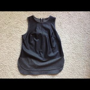 Banana Republic Leather Front Top